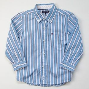 Tommy Hilfiger Button Down Striped Collared Shirt